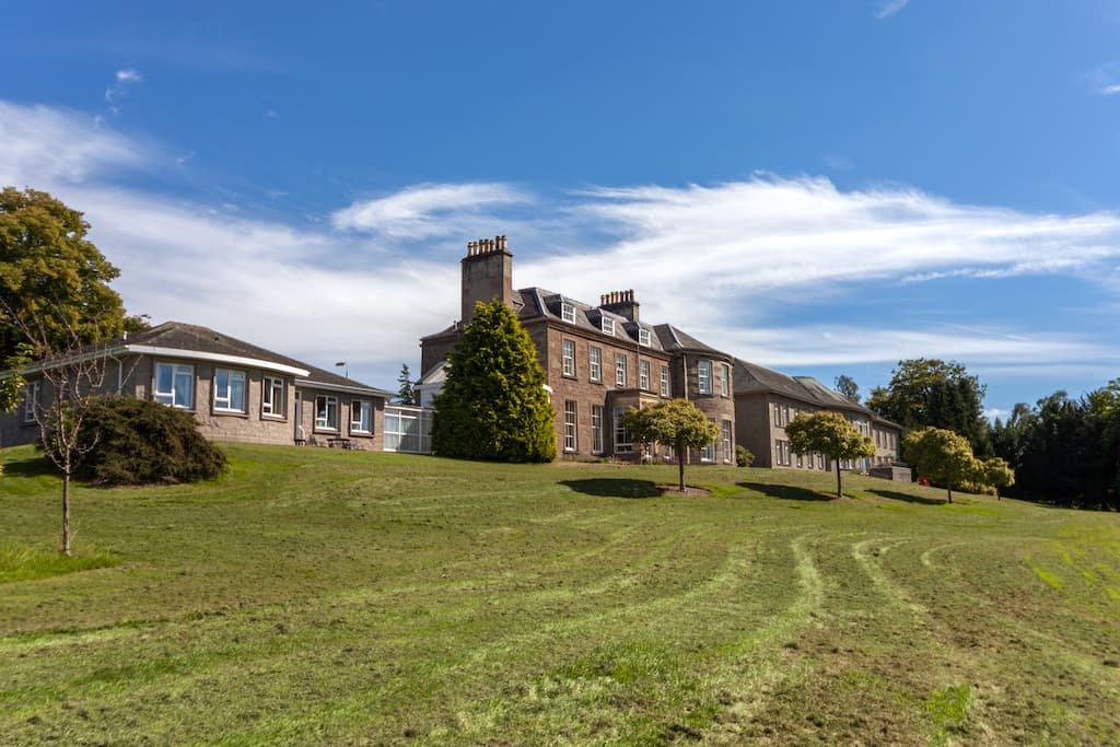 Grounds at Kincarrathie Care Home, Perth, Scotland