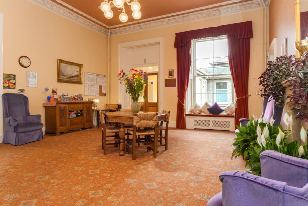 Reception in Kincarrathie Residential Care Home, Perth, Scotland